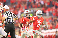 The Ohio State University football team defeats Indian 38-17. October 8, 2016<br />