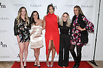 (l-r) Courtney Morrome, Danielle Herzlich, Keisha Sullivan, Pilar Amukamara and Courtney Wade attend the 3rd Annual Wives' Holiday Soiree at Totokaelo in SOHO on December 9, 2015.