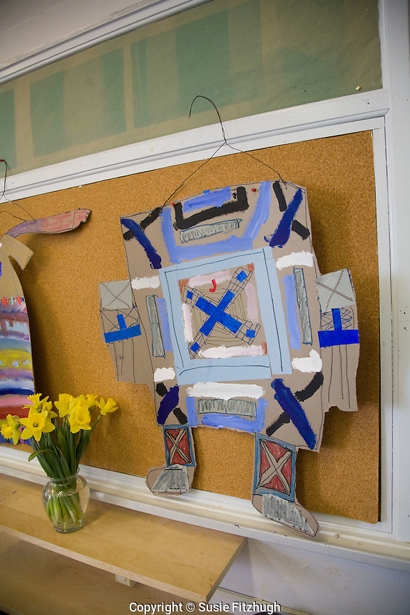In Lauren Atkinson's Arts Corps class at St. Therese School, elementary school art is on display.