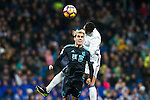 Real Sociedad's forward Juanmi Jimenez Lopez, Real Madrid's midfielder Danilo Luiz da Silva  during the match of La Liga between Real Madrid and   Real Sociedad at Santiago Bernabeu Stadium in Madrid, Spain. January 29th 2017. (ALTERPHOTOS/Rodrigo Jimenez)