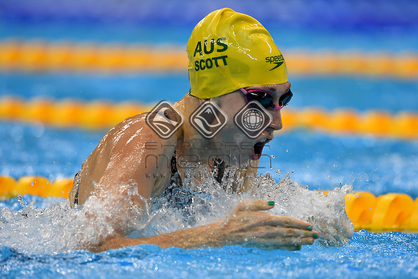 Madeleine Scott (AUS) 100m backstroke SB9<br /> Swimming Heats / Day 1<br /> Olympic Aquatic Stadium<br /> 2016 Paralympic Games - RIO Brazil<br /> Australian Paralympic Committee<br /> Rio Brazil  Thursday 8 September 2016<br /> &copy; Sport the library / Jeff Crow