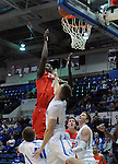 February 4, 2015 - Colorado Springs, Colorado, U.S. -    New Mexico center, Obij Aget #11, reaches for the basket during a Mountain West Conference match-up between the New Mexico Lobos and the Air Force Academy Falcons at Clune Arena, U.S. Air Force Academy, Colorado Springs, Colorado.  Air Force upsets New Mexico 53-49.