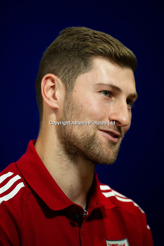 Ben Davies of Wales during the Wales Press Conference at St Fagans National Museum of History in Cardiff, Wales, UK. Tuesday 12th November 2019