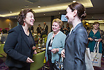 "BRUSSELS - BELGIUM - 23 November 2016 -- European Training Foundation (ETF) Conference on ""GETTING ORGANISED FOR BETTER QUALIFICATIONS"". -- Madlen Serban, Director ETF with Director Olga Oleynikova, Center for VET Studies (Russian Federation) and Tamar Sanikidze, Director of LEPL National Center for Education Quality Enhancement Ministry of Education and Science (Georgia). -- PHOTO: Juha ROININEN / EUP-IMAGES"