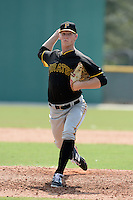 Pittsburgh Pirates pitcher Jerry Mulderig (46) during an Instructional League game against the New York Yankees on September 18, 2014 at the Pirate City in Bradenton, Florida.  (Mike Janes/Four Seam Images)
