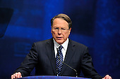 Wayne LaPierre, Executive Vice President, National Rifle Association (NRA), speaks at the 2012 CPAC Conference at the Marriott Wardman Park Hotel in Washington, D.C. on Friday, February 10, 2012..Credit: Ron Sachs / CNP
