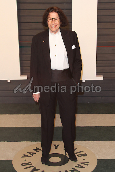 28 February 2016 - Beverly Hills, California - Fran Lebowitz. 2016 Vanity Fair Oscar Party hosted by Graydon Carter following the 88th Academy Awards held at the Wallis Annenberg Center for the Performing Arts. Photo Credit: AdMedia