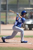 Los Angeles Dodgers first baseman Cody Bellinger (76) during an Instructional League game against the Chicago White Sox on October 8, 2013 at Camelback Ranch Complex in Glendale, Arizona.  (Mike Janes/Four Seam Images)