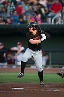 Great Falls Voyagers left fielder Alex Destino (24) at bat during a Pioneer League game against the Idaho Falls Chukars at Melaleuca Field on August 18, 2018 in Idaho Falls, Idaho. The Idaho Falls Chukars defeated the Great Falls Voyagers by a score of 6-5. (Zachary Lucy/Four Seam Images)