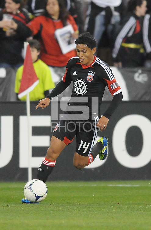 D.C. United midfielder Andy Najar (14) D.C. United tied The Montreal Impact 1-1, at RFK Stadium, Wednesday April 18 , 2012.