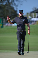 Tyrrell Hatton (ENG) drains his birdie putt on 2 during round 3 of the Arnold Palmer Invitational at Bay Hill Golf Club, Bay Hill, Florida. 3/9/2019.<br /> Picture: Golffile | Ken Murray<br /> <br /> <br /> All photo usage must carry mandatory copyright credit (&copy; Golffile | Ken Murray)