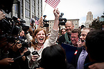 Civil rights activist Molly Mckay, left celebrates a federal court ruling striking down California's Proposition 8 outside the federal building in San Francisco, California,  August 4, 2010..CREDIT: Max Whittaker for The Wall Street Journal.PROP8