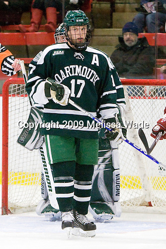 Scott Fleming (Dartmouth - 17) - The Harvard University Crimson defeated the Dartmouth College Big Green 4-1 (EN) on Monday, January 18, 2010, at Bright Hockey Center in Cambridge, Massachusetts.
