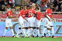 25 KAMIL GLIK (mon) - 09 RADAMEL FALCAO (mon) - 06 JORGE (mon) - 15 Adama DIAKHABY (mon) - JOIE<br /> Monaco 27-08-2017 <br /> Monaco - Olympique Marsiglia <br /> Calcio Ligue 1 2017/2018 <br /> Foto Lecouer/Panoramic/insidefoto