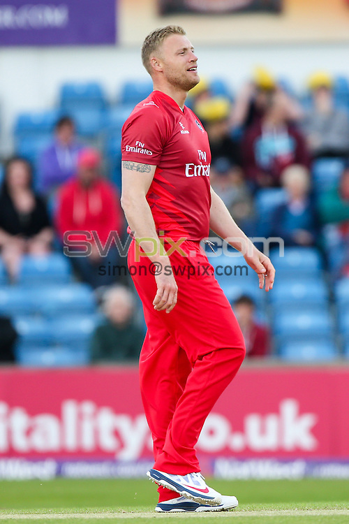 Picture by Alex Whitehead/SWpix.com - 05/06/2015 - Cricket - NatWest T20 Blast - Yorkshire Vikings v Lancashire Lightning - Headingley Cricket Ground, Leeds, England - A League Of Their Own, Andrew 'Freddy' Flintoff.