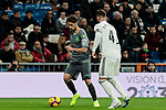 Real Madrid's Sergio Ramos and Real Sociedad's Adnan Januzaj during La Liga match between Real Madrid and Real Sociedad at Santiago Bernabeu Stadium in Madrid, Spain. January 06, 2019. (ALTERPHOTOS/A. Perez Meca)<br />  (ALTERPHOTOS/A. Perez Meca)