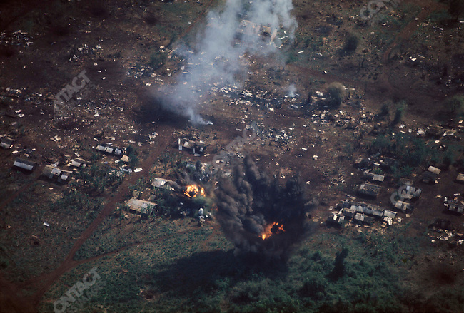 U.S. Forces bombing the city of An Loc, South Vietnam, May 1972