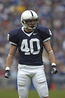 30 September 2006:  Penn State LB Dan Connor (40).  The Penn State Nittany Lions defeated the Northwestern Wildcats 33-7 September 30, 2006 at Beaver Stadium in State College, PA..