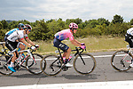 The peloton including Rigoberto Uran (COL) EF Education First during Stage 1 of the Route d'Occitanie 2019, running 175.5km from Gignac-Vallée de l'Hérault to Saint-Geniez-d'Olt-et-d'Aubrac , France. 20th June 2019<br /> Picture: Colin Flockton | Cyclefile<br /> All photos usage must carry mandatory copyright credit (© Cyclefile | Colin Flockton)
