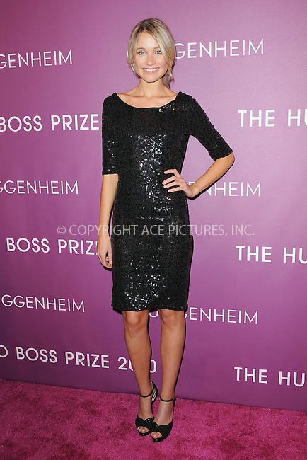WWW.ACEPIXS.COM . . . . . .November 4, 2010...New York City....Katrina Bowden attends the 2010 Hugo Boss Prize at the Solomon R. Guggenheim Museum on November 4, 2010 in New York City....Please byline: KRISTIN CALLAHAN - ACEPIXS.COM.. . . . . . ..Ace Pictures, Inc: ..tel: (212) 243 8787 or (646) 769 0430..e-mail: info@acepixs.com..web: http://www.acepixs.com .