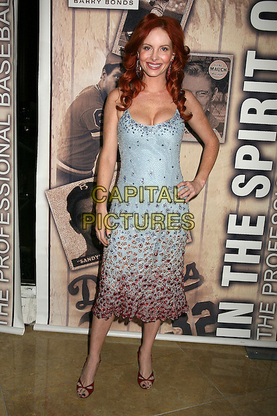 "PHOEBE PRICE.4th Annual ""In the Spirit of The Game"" Auction and Dinner Gala at the Beverly Hilton Hotel, Beverly Hills, California, USA, 6 Januray 2007..full length hand on hip blue green turquoise red dress.CAP/ADM/BP.©Byron Purvis/Admedia/Capital Pictures"
