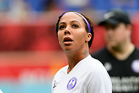 HARRISON, NJ - SEPTEMBER 29: Sydney Leroux #2 of the Orlando Pride during a game between Orlando Pride and Sky Blue FC at Red Bull Arena on September 29, 2019 in Harrison, New Jersey.