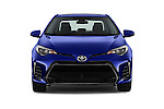 Car photography straight front view of a 2018 Toyota Corolla XSE-AT 4 Door Sedan Front View
