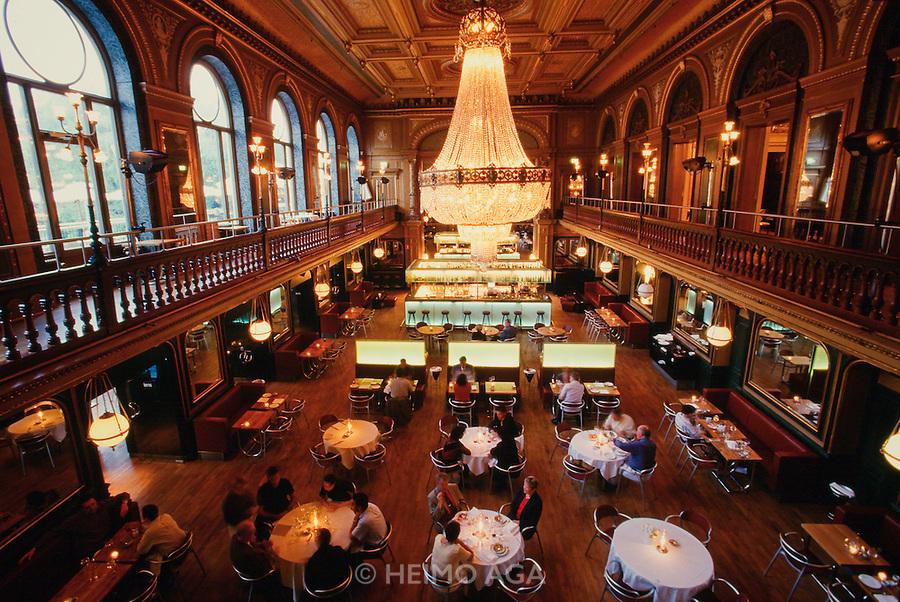 Berzelli Park. Berns Salonger restaurant, renovated by Sir Terence Conran.