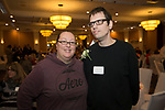 Waterbury, CT-17, October 2017-101717CM13 Social moments, from left  Lindsey and Jesse Trezcker of Naugatuck are photographed during the Easter Seals annual dinner at the Courtyard by Marriott in Waterbury on on Tuesday.   Christopher Massa Republican-American