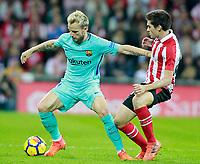 Athletic de Bilbao's Inigo Cordoba (r) and FC Barcelona's Ivan Rakitic during La Liga match. October 28,2017. (ALTERPHOTOS/Acero) /NortePhoto.com