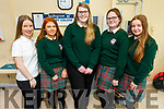 Killorglin Community College students attending the Kerry College open day at the Clash Campus. L to r: Clodagh Coffey, Caoimhe Brosnan, Sarah O'Shea, Emer Brosnan and Rebecca Coffey.