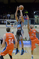 Everard Bartlett in action during the NBL Final Four - Hawks v Sharks at TSB Bank Arena, Wellington, New Zealand on Friday 4 July 2014. <br /> Photo by Masanori Udagawa. <br /> www.photowellington.photoshelter.com.