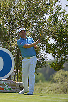 Padraig Harrington (IRL) watches his tee shot on 18 during day 1 of the Valero Texas Open, at the TPC San Antonio Oaks Course, San Antonio, Texas, USA. 4/4/2019.<br /> Picture: Golffile | Ken Murray<br /> <br /> <br /> All photo usage must carry mandatory copyright credit (© Golffile | Ken Murray)