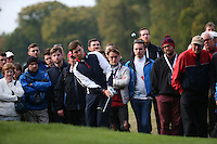 Daniel Brooks (ENG) chips from the back of the 16th during the Final Round of the British Masters 2015 supported by SkySports played on the Marquess Course at Woburn Golf Club, Little Brickhill, Milton Keynes, England.  11/10/2015. Picture: Golffile | David Lloyd<br /> <br /> All photos usage must carry mandatory copyright credit (© Golffile | David Lloyd)