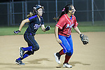 Cedar Ridge's Christina McDowell attempts to steal third base against Westlake Thursday at Noack Field.  The Raiders beat the Chaps 2-0.  (LOURDES M SHOAF for Round Rock Leader.)