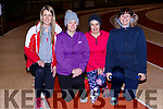 Hazel Byrne, Lorraine Wharton, Jennifer Collins, and Josephine O'Connor doing the stretches at the An Riocht AC couch to 5k on Thursday evening