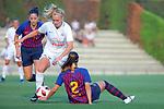 FC Barcelona vs Montpellier HSC: 1-2.<br /> Vicky Losada, Sarah Puntigan &amp; Gemma Gili.