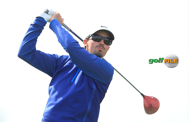 Paul Peterson (USA) on the 12th tee during Round 1 of the 2015 KLM Open at the Kennemer Golf &amp; Country Club in The Netherlands on 10/09/15.<br /> Picture: Thos Caffrey | Golffile