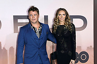 "LOS ANGELES - MAR 5:  Luke Hemsworth, wife at the ""Westworld"" Season 3 Premiere at the TCL Chinese Theater IMAX on March 5, 2020 in Los Angeles, CA"