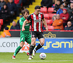 Enda Stevens of Sheffield Utd  during the championship match at the Bramall Lane Stadium, Sheffield. Picture date 28th April 2018. Picture credit should read: Simon Bellis/Sportimage