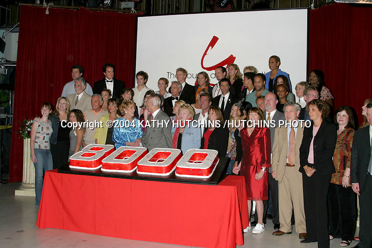 ©2004 KATHY HUTCHINS /HUTCHINS PHOTO.The Young and the Restless celebrates the taping of the 8000th show.Los Angeles, CA.SEPTEMBER 28, 2004..Young and the Restless.Cast, Staff, and Execs