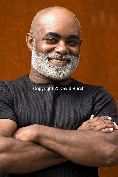 African American man, smiling,