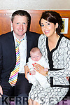 Donal and Susan O'Sullivan with their son Donal Jnr at the celebrattion on his christening in the Dromhall Hotel on Sunday