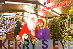 Kerry Brassil with Santa at the Listowel Garden and Pet centre.