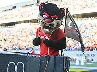 Annapolis, MD - September 23, 2017: Cincinnati Bearcats mascot in action during the game between Cincinnati and Navy at  Navy-Marine Corps Memorial Stadium in Annapolis, MD.   (Photo by Elliott Brown/Media Images International)