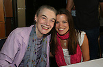 "Melissa Claire Egan - AMC - ""Annie"" (R) poses with Marian Seldes at the 22nd Annual Broadway Flea Market and Grand Auction to benefit Broadway Cares / Equity Fights Aids on Sunday 21, 2008 in Shubert Alley, New York City, NY. (Photo by Sue Coflin/Max Photos)"