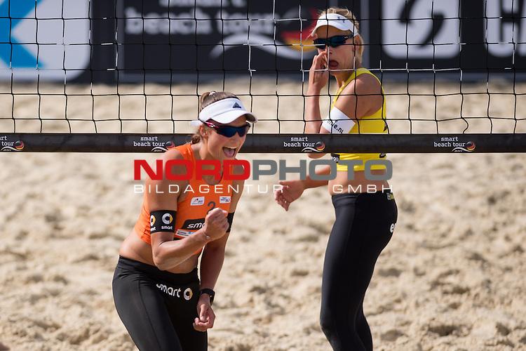 10.05.2015, Muenster, Schlossplatz<br /> smart beach tour, Supercup MŸnster / Muenster, Halbfinale<br /> <br /> Jubel Ilka Semmler<br /> <br />   Foto &copy; nordphoto / Kurth