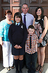 Eleanor Collins with Jacqueline, Michael, Victoria and Sean at the Ballymakenny NS Confirmation...Photo NEWSFILE/Jenny Matthews.(Photo credit should read Jenny Matthews/NEWSFILE)....This Picture has been sent you under the condtions enclosed by:.Newsfile Ltd..The Studio,.Millmount Abbey,.Drogheda,.Co Meath..Ireland..Tel: +353(0)41-9871240.Fax: +353(0)41-9871260.GSM: +353(0)86-2500958.email: pictures@newsfile.ie.www.newsfile.ie.FTP: 193.120.102.198.