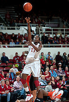 STANFORD, CA - February 24, 2011: Chiney Ogwumike of the Stanford Cardinal women's basketball team during the Stanford vs Oregon State game at Maples Pavilion.