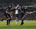 Newcastle's Aleksandar Mitrovic celebrates scoring his sidess opening goal<br /> <br /> Barclays Premier League- Tottenham Hotspur vs Newcastle United - White Hart Lane - England - 13th December 2015 - Picture David Klein/Sportimage